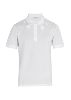 Givenchy Star-embroidered polo shirt