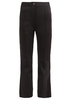 Givenchy Stitched-front kick-flare trousers