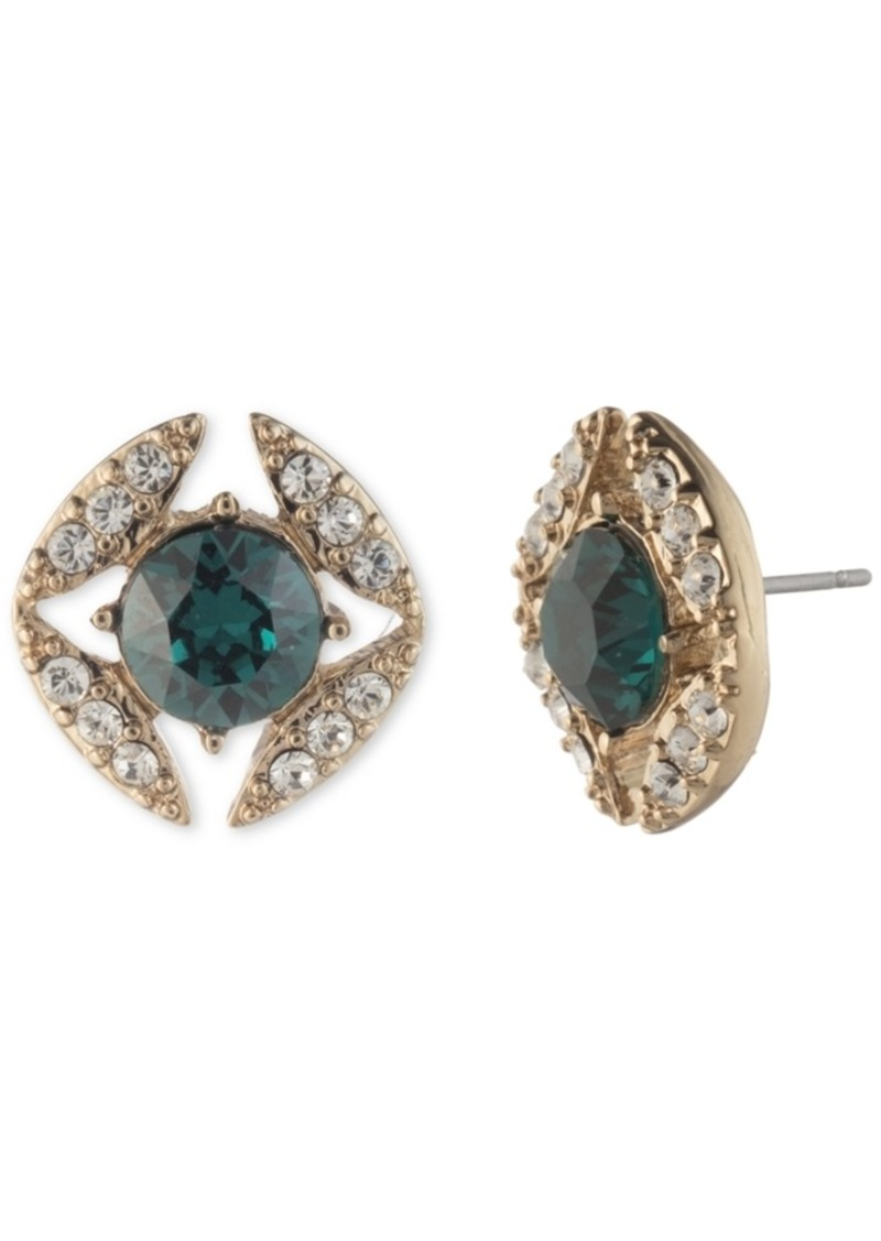 Givenchy Stone & Crystal Halo Stud Earrings