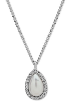 """Givenchy Stone Pear-Shape Pendant Necklace, 16"""" + 3"""" extender"""