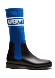 Givenchy Storm ribbed-knit chelsea boots