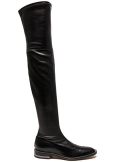 Givenchy Stretch Leather Over The Knee Boots