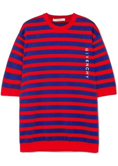 Givenchy Striped Cotton-blend Sweater