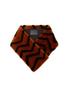 Givenchy Striped lamb shearling scarf