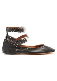 Givenchy Stud-embellished leather flats
