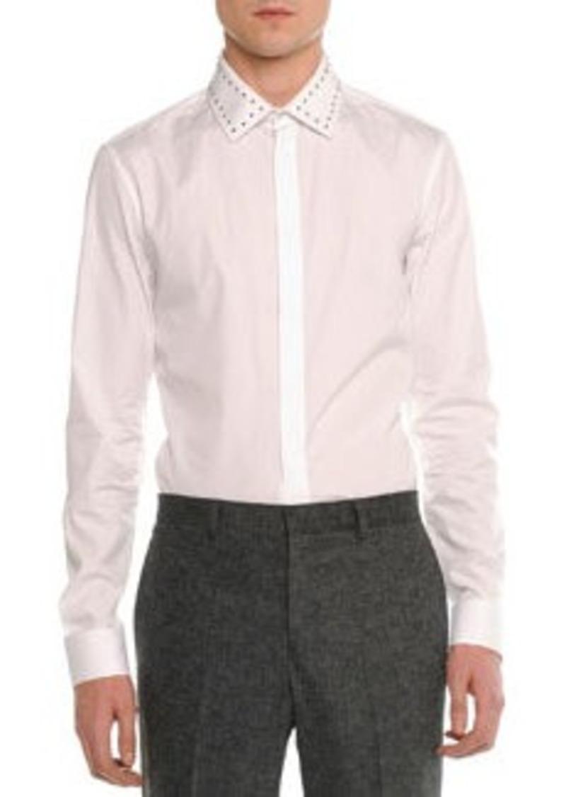 Givenchy Studded-Collar Long-Sleeve Shirt