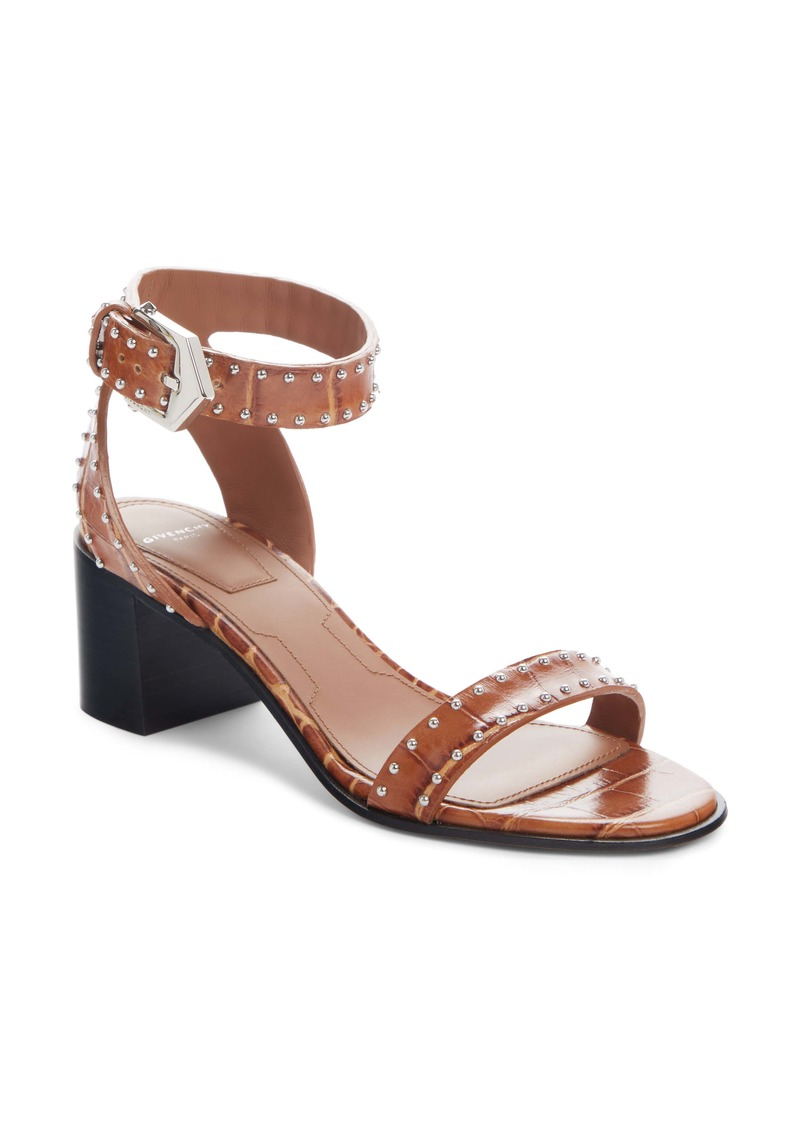 Givenchy Studed Croc Embossed Sandal (Women)