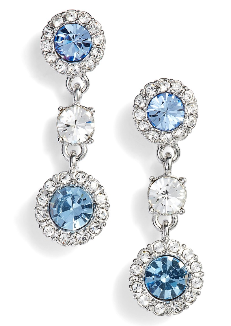 7150290e3 Givenchy Givenchy Swarovski Crystal Triple Drop Earrings | Jewelry
