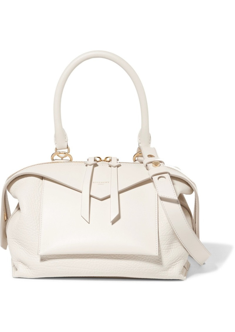 212193fcb8 SALE! Givenchy Sway Small Smooth And Textured-leather Shoulder Bag