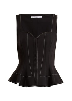 Givenchy Sweetheart-neck peplum top