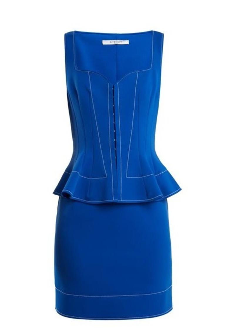 Givenchy Sweetheart-neck peplum-waist dress