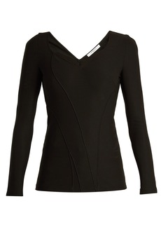 Givenchy Sweetheart-neck stretch-cady top