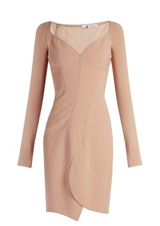 Givenchy Sweetheart-neckline crepe dress