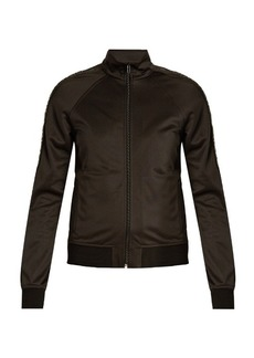 Givenchy Tape-trimmed zip-through jersey jacket