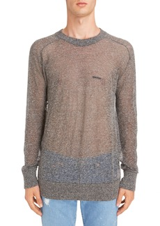 Givenchy Technical Linen Blend Crewneck Sweater