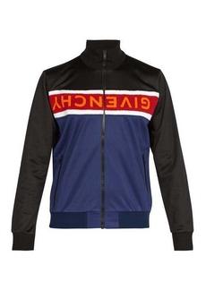 Givenchy Terry-panel logo zip-through jacket