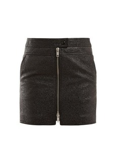 Givenchy Textured-leather mini skirt
