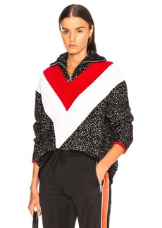Givenchy Textured Quarter Zip Sweater