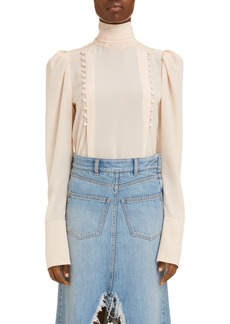 Givenchy Tie Neck Woven Blouse