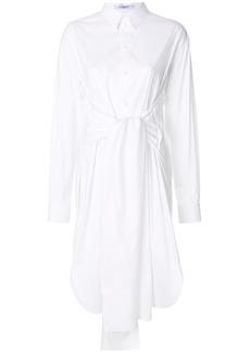 Givenchy tie waist midi shirt dress - White