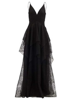 Givenchy Tiered Chantilly-lace gown