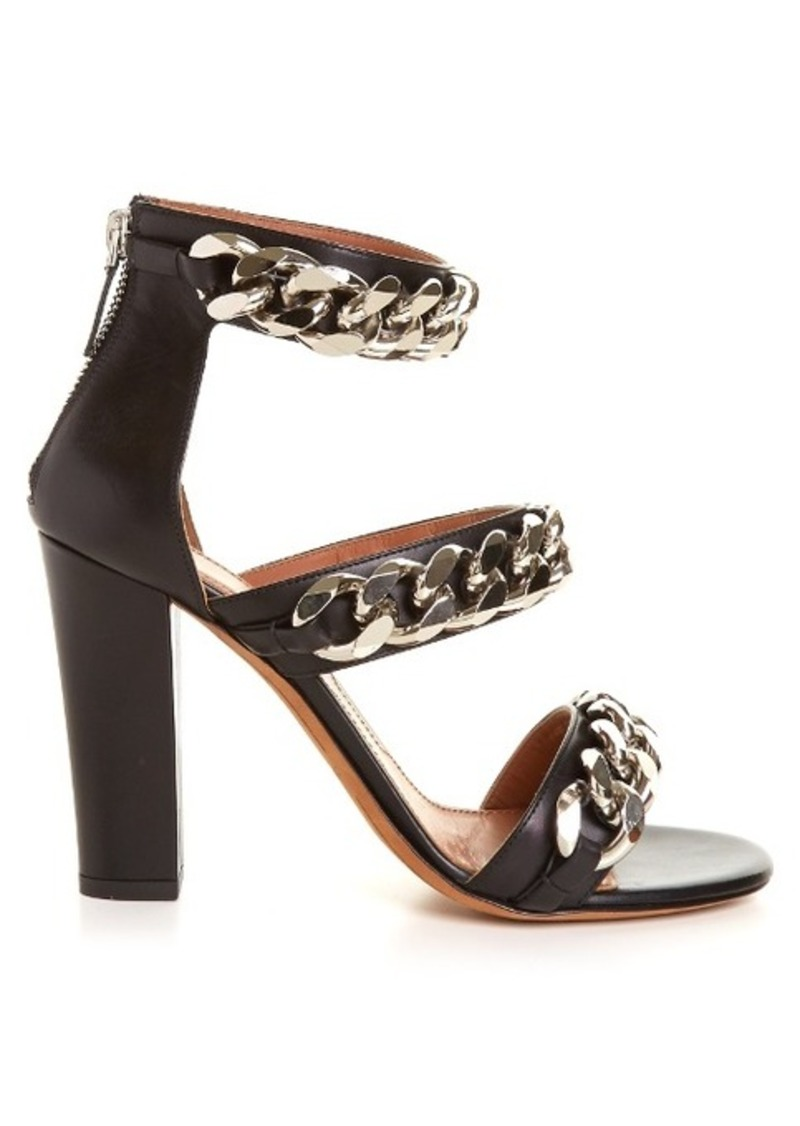 Givenchy Triple chunky-chain leather sandals