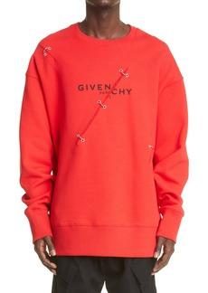 Givenchy Trompe l'Oeil Logo Ring Sweatshirt