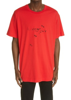 Givenchy Trompe l'Oeil Ring Logo Graphic Tee