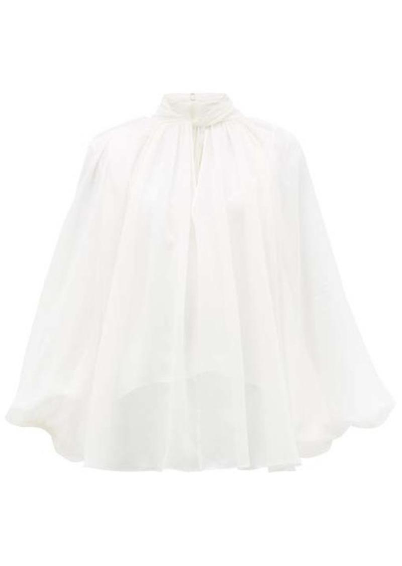 Givenchy Twist-neck silk-chiffon blouse