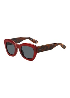 Givenchy Two-Tone Square Acetate Sunglasses