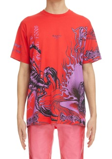 Givenchy Ultra Purple Oversize Graphic Tee
