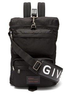 Givenchy UT3 leather-trimmed nylon backpack