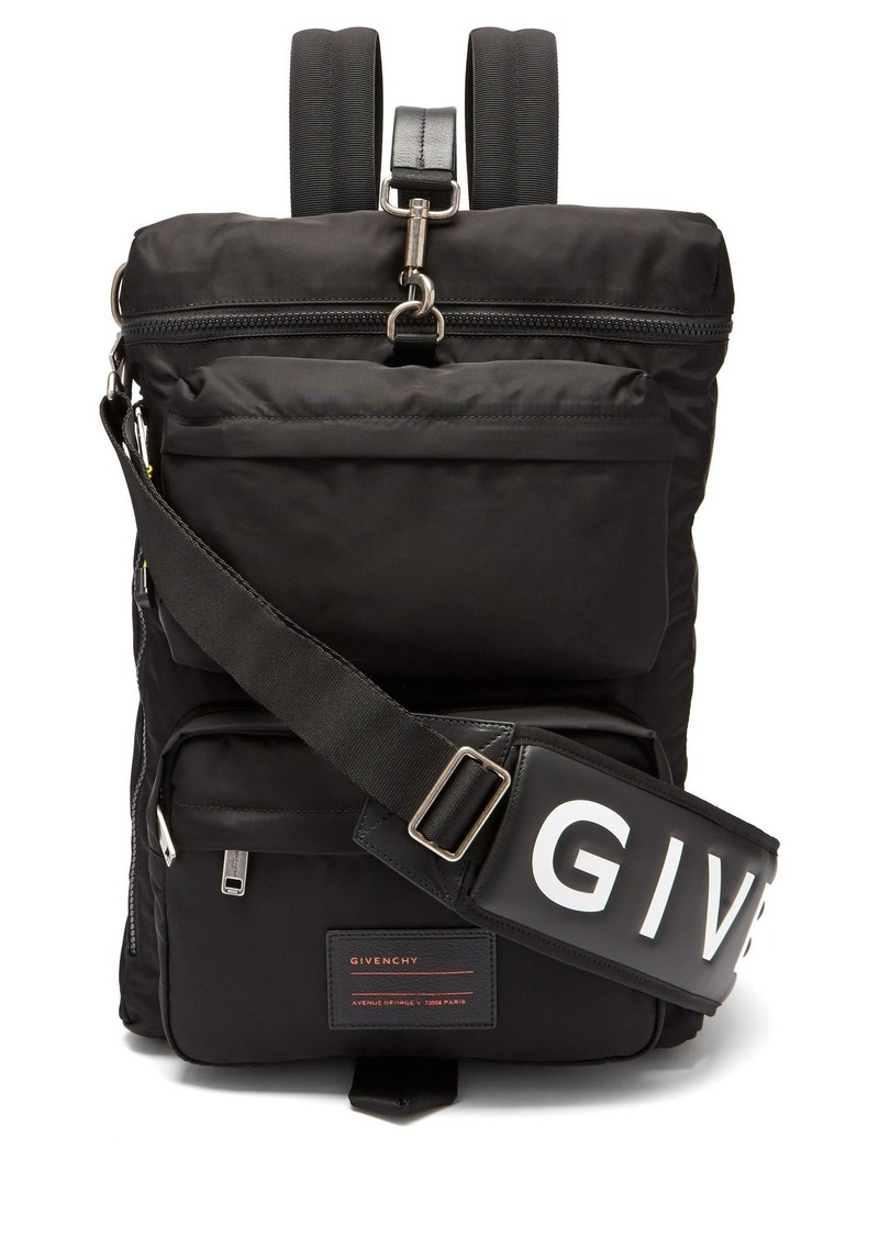 Givenchy Givenchy UT3 leather-trimmed nylon backpack  2e3db5c2a0219
