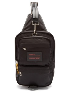 Givenchy UT3 leather-trimmed nylon single strap backpack