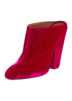 Givenchy Velvet Block-Heel Mule Pump