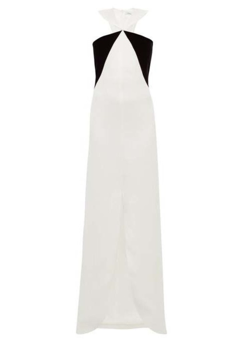 Givenchy Velvet-panel crepe gown