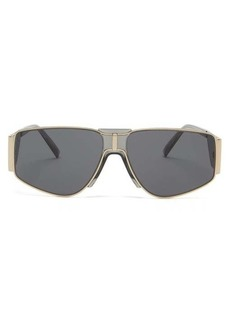 Givenchy Wide-arm metal sunglasses