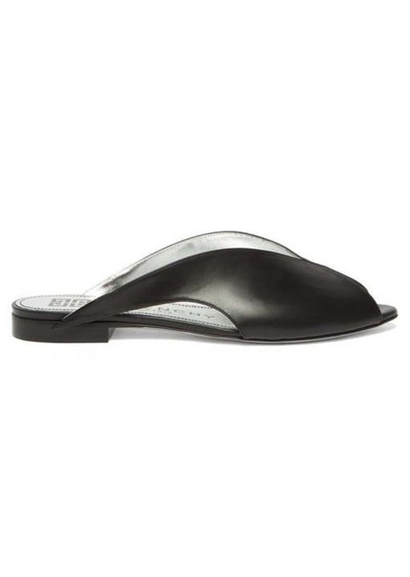 Givenchy Winged peep-toe leather mules