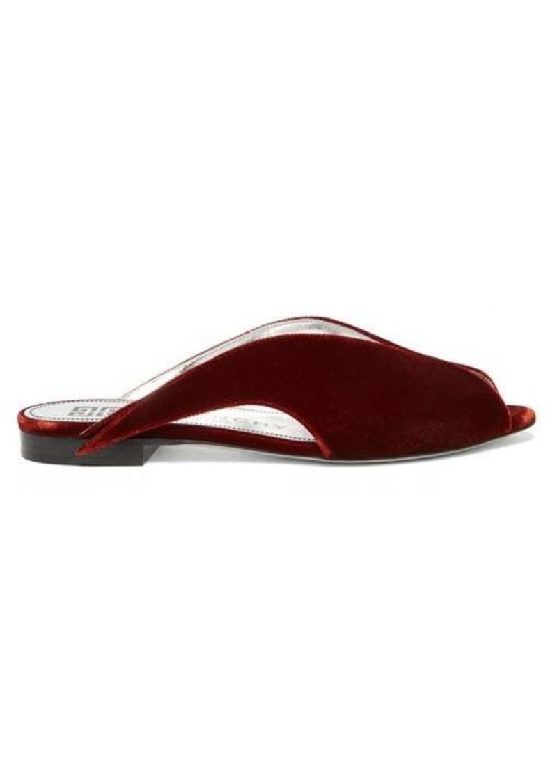 Givenchy Winged peep-toe velvet mules
