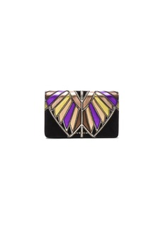 Givenchy Wings Leather Patchwork Pandora Chain Wallet