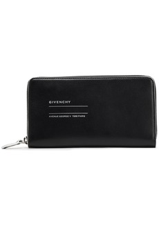 Givenchy Woman Address Leather Continental Wallet Black