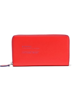 Givenchy Woman Address Leather Continental Wallet Tomato Red