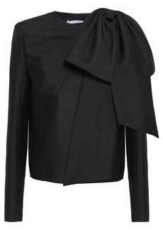 Givenchy Woman Bow-embellished Mohair And Wool-blend Canvas Top Black