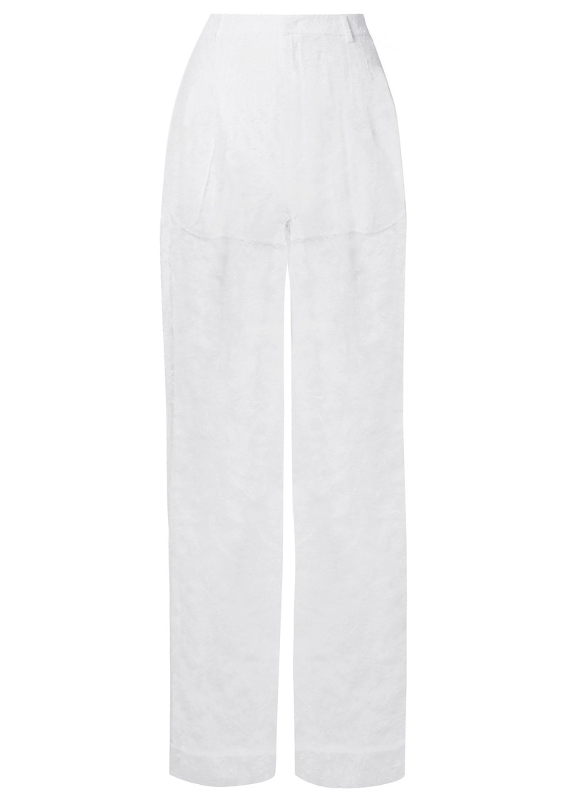 Givenchy Woman Chantilly Lace Wide-leg Pants White