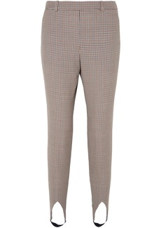 Givenchy Woman Checked Wool Tapered Stirrup Pants Neutral