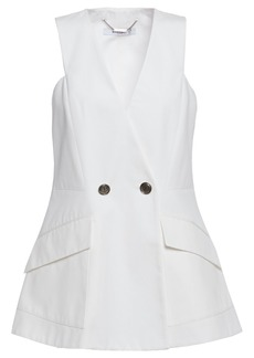Givenchy Woman Double-breasted Cotton-ottoman Vest White