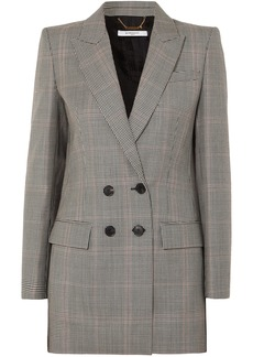 Givenchy Woman Double-breasted Houndstooth Wool Blazer Black