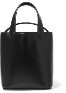 Givenchy Woman Glossed-leather Bucket Bag Black