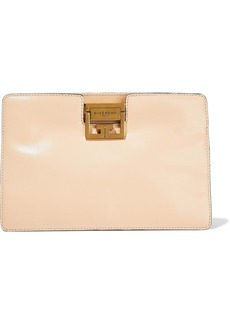 Givenchy Woman Gv Washed-leather Clutch Beige