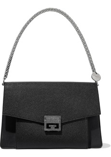 Givenchy Woman Gv3 Medium Pebbled-leather Shoulder Bag Black